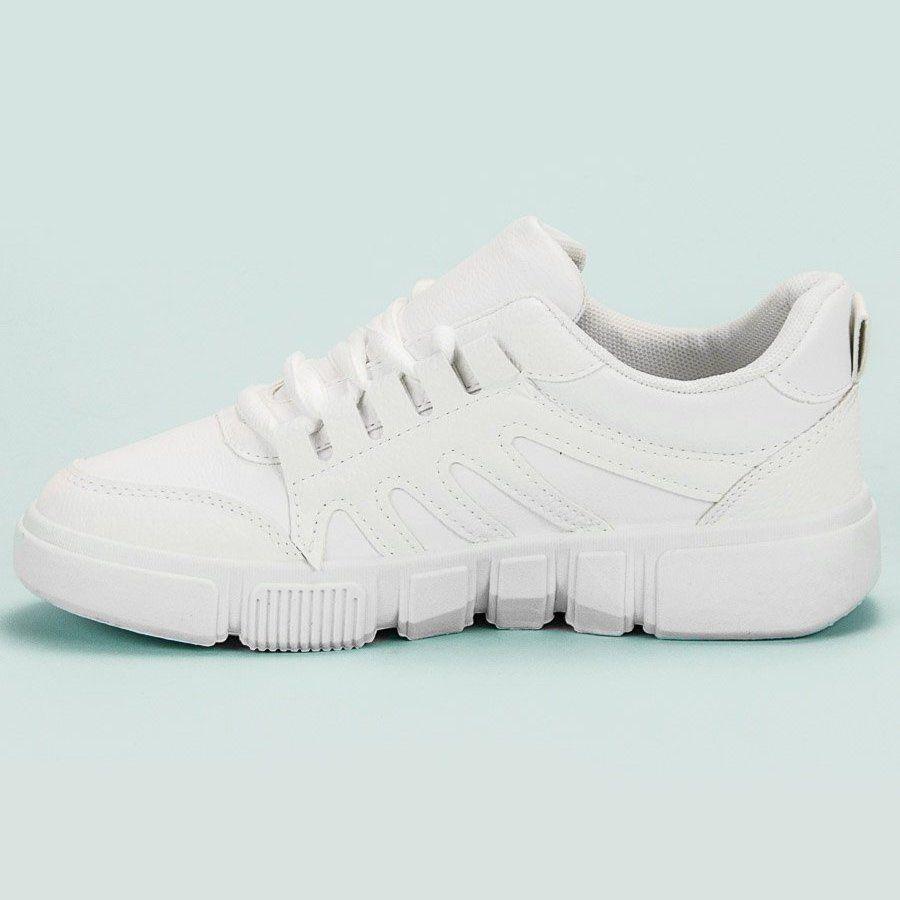 Sportowe Damskie Butymodne Biale Wygodne Obuwie Sportowe Sneakers Shoes Fashion