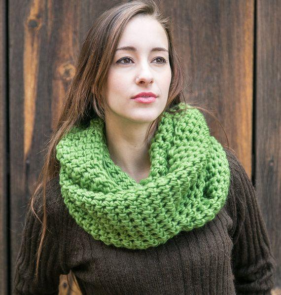 Wool Infinity Scarf  Lightweight Pure Wool Scarf  by MercierMarche