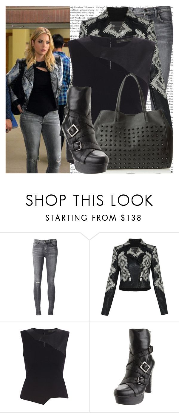 """""""bloody hell - hanna marin"""" by cla-90 ❤ liked on Polyvore featuring Episode, Citizens of Humanity, BCBGMAXAZRIA, Steve Madden and GUESS"""