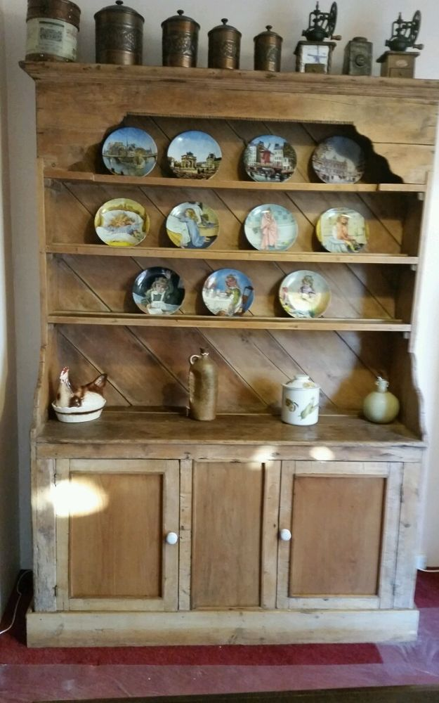 1837-1901 Antique Pine Irish Dresser Original in Antiques, Antique Furniture,  Dressers | - 1837-1901 Antique Pine Irish Dresser Original In Antiques, Antique