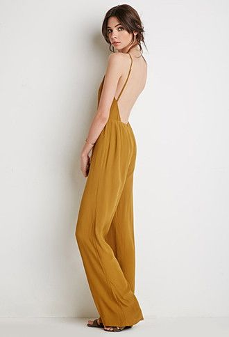 e255e3d52ea2 Low-Back Halter Jumpsuit | Forever 21 - 2002246818 | sewing ...