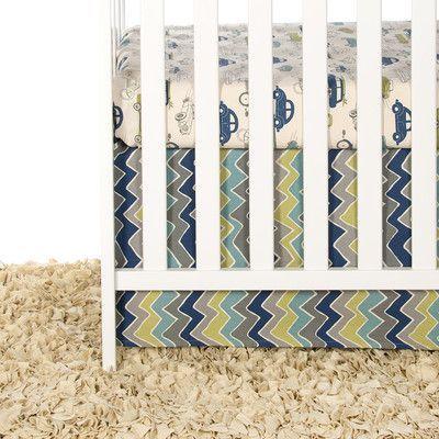 Zoomie Kids Bullins 2 Piece Crib Bedding Set Crib