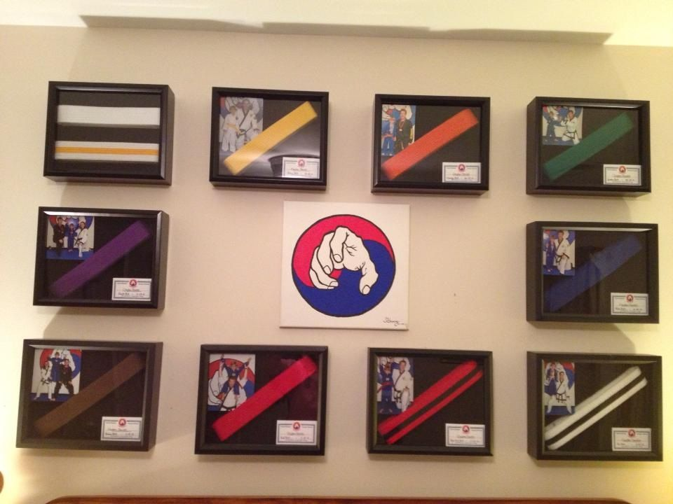 One of our students moms took a photo of her son at each belt ...