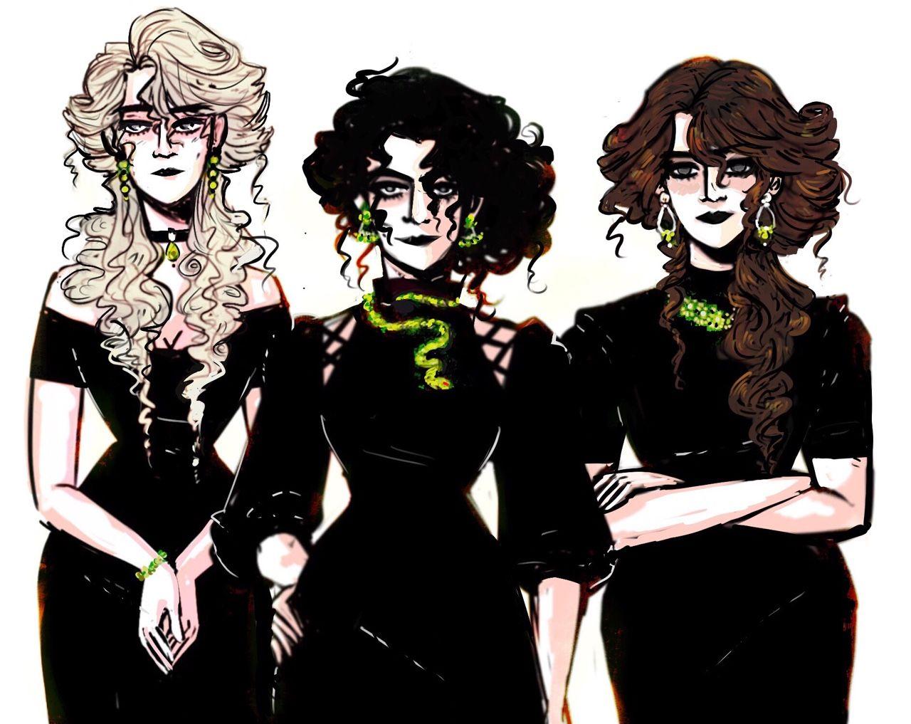 The Black Sisters Anime De Harry Potter Personajes De Harry Potter Y Harry Potter