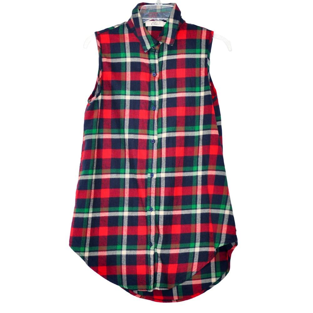 Woman red flannel outfits  Details about Elodie Top Size Medium Sleeveless Womenus  Womenus