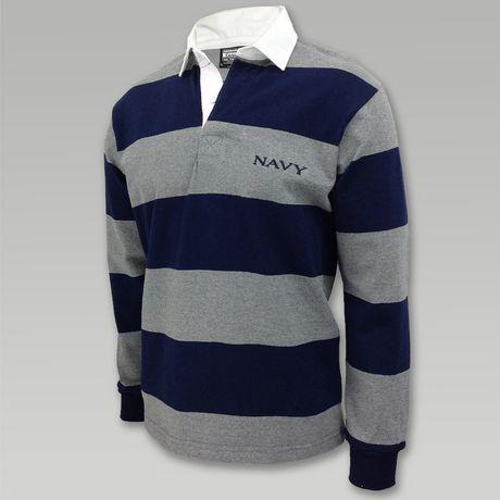 4 Inch Stripe Classic Navy Rugby Shirt Rugby Shirt Shirts Navy