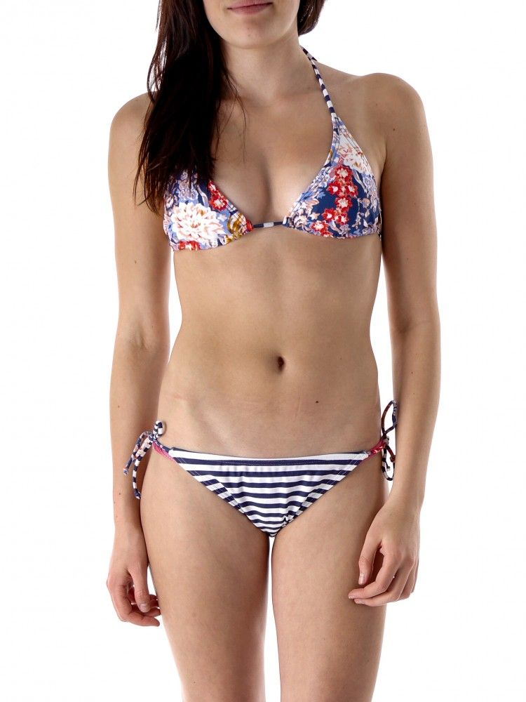 O/'Neill Bikini-Oberteil blau rot Neckholder Triangle