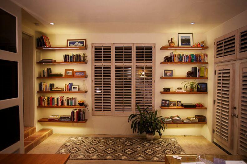 Image result for bookshelf lighting Bookshelf lighting