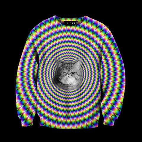 Hypno Cat Sweatshirt, LOL