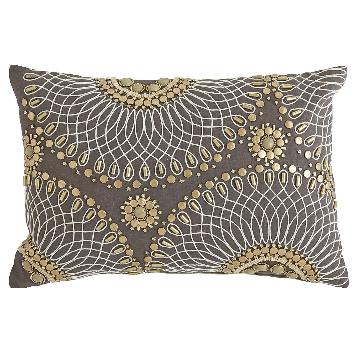 Beaded Accent Pillow Perfect Bedroom Addition Pillows Glam