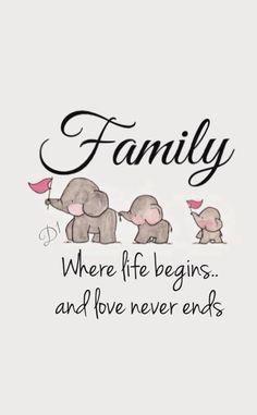 Familie, wo das Leben beginnt und die Liebe niemals endet   - Babylove -   #Babylove #beginnt #das #die #endet #Familie #Leben #Liebe #niemals #und