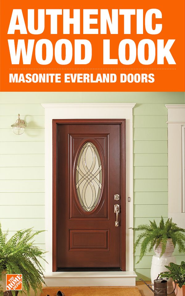 Masonite 36 In X 80 In Everland Cianne Cherry Left Hand Inswing 3 4 Oval Smooth Finished Fiberglass Prehung Front Exterior Door 39892 The Home Depot Exterior Doors Exterior Front Doors Door Design