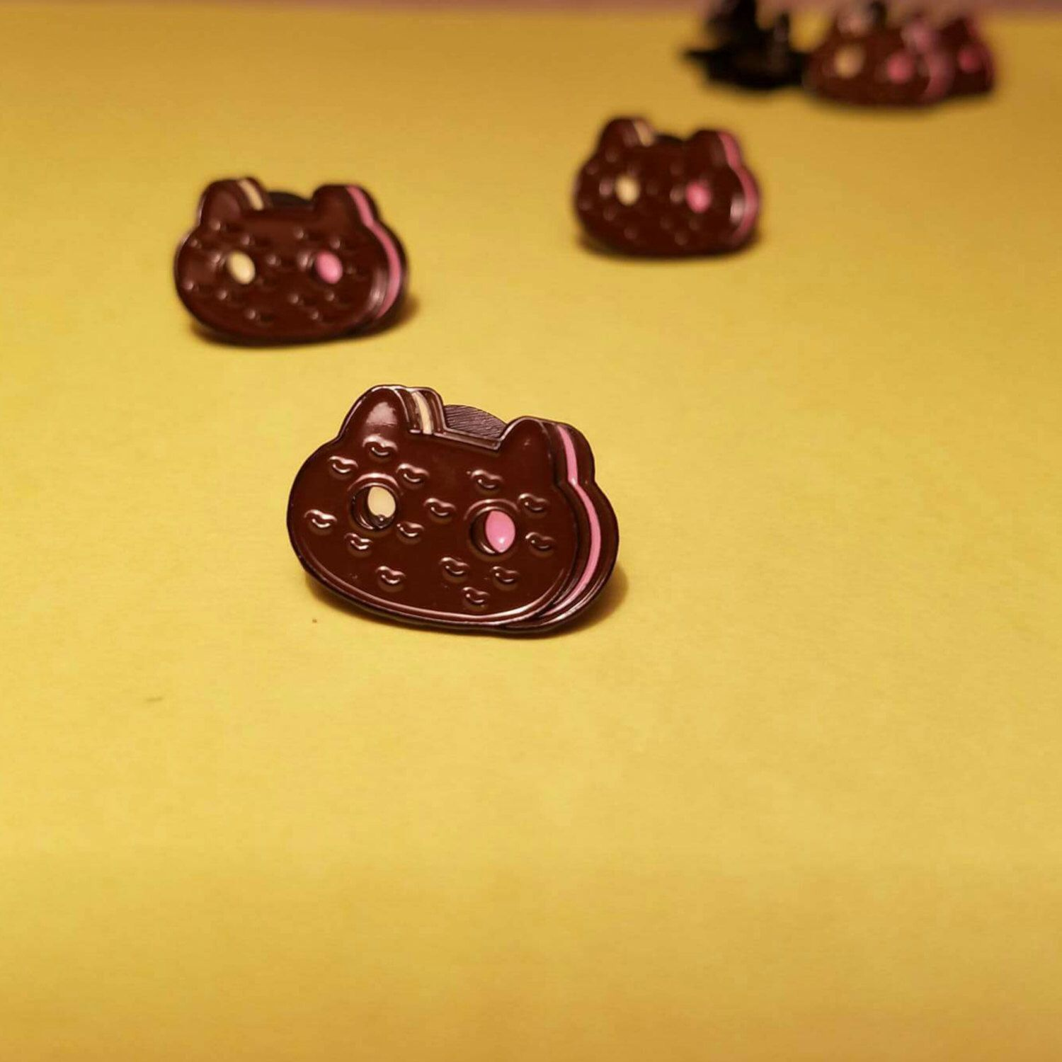 Steven Universe Cookie Cat Enamel Pin By GarbageHumans On