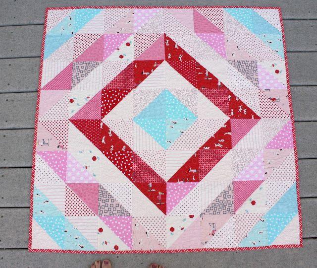 La mitad cuadrados triángulo atajos y fácil plaza-up - Diario de una Quilter - una colcha de blogs