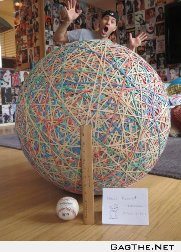 My Rubber Band Ball Just Reached 250 Pounds Rubber