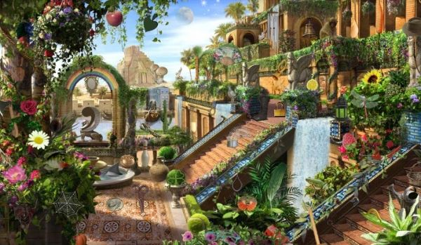 Hanging Gardens Of Babylon 7 Wonders Of The Ancient World Illustrations Pinterest