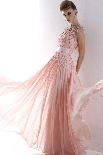 cross prom dress maxi evening dress pink dress $255.00 http://paradiseinternetmall.net/WOMEN_S_FASHIONS.html