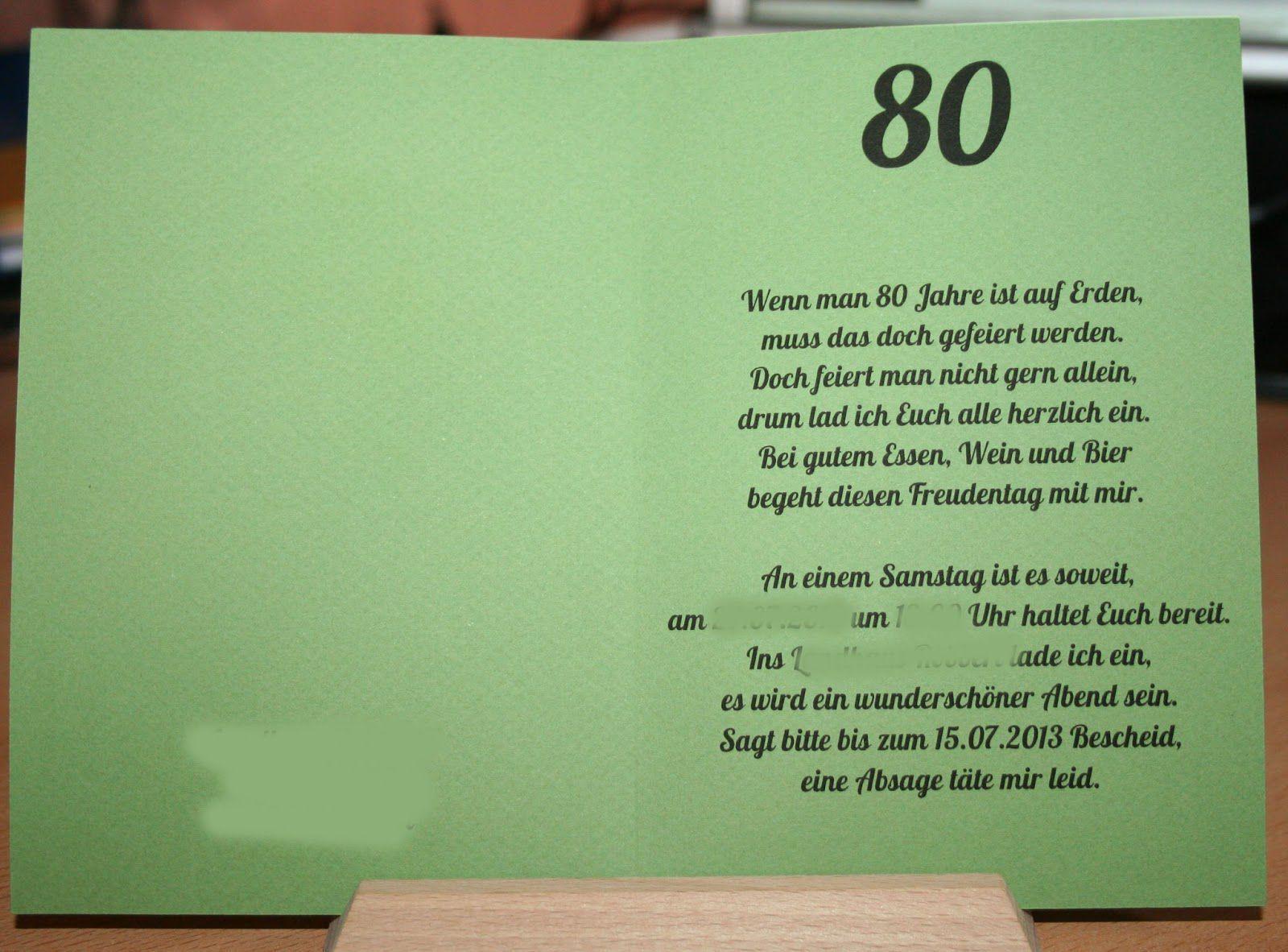 Einladungskarten 80 Geburtstag Ohne Foto Mit Bildern