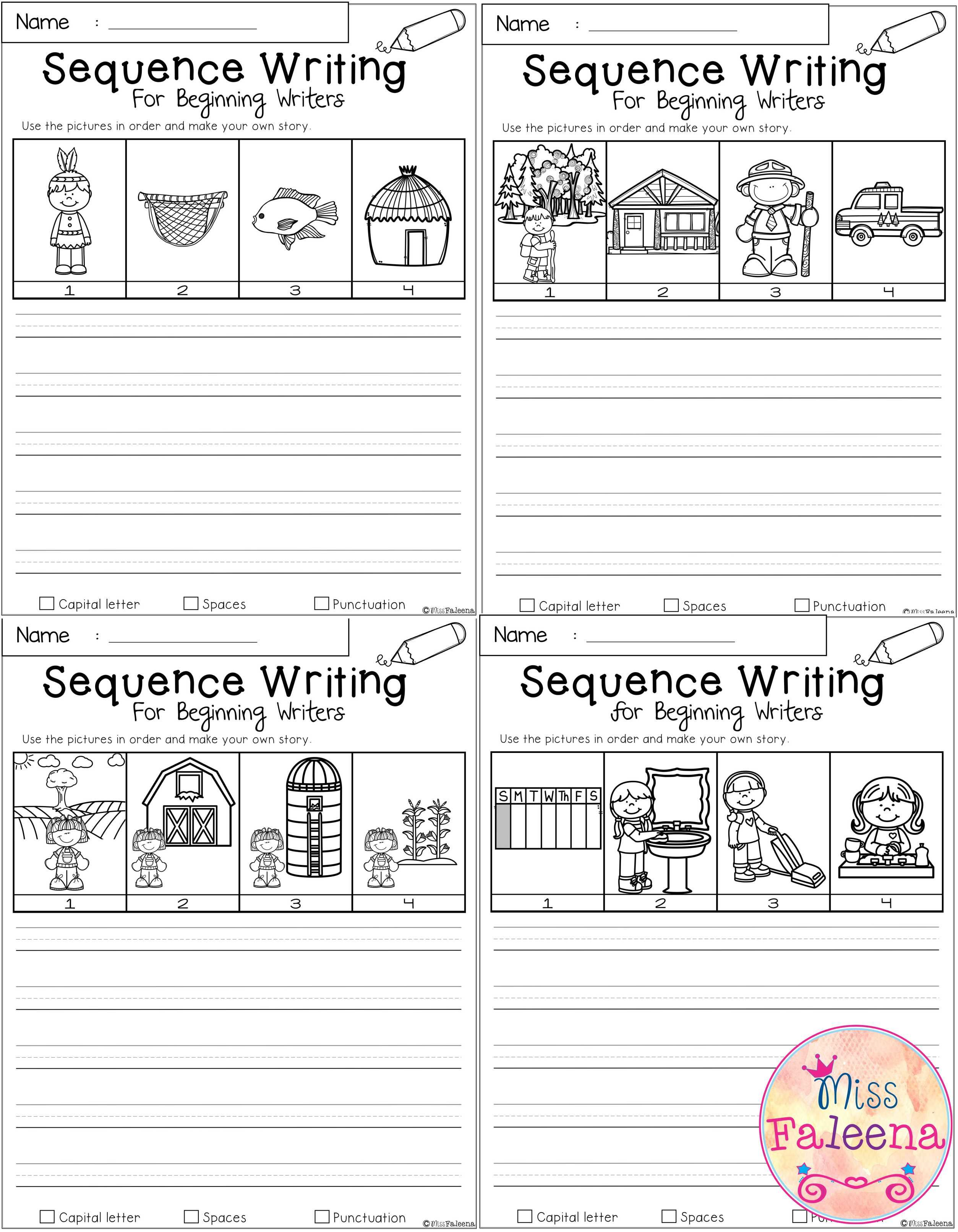 September Sequence Writing For Beginning Writers