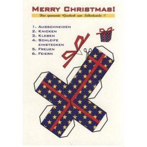 Weihnachten zum selber basteln lustige weihnachtskarten - Postkarten selber basteln ...