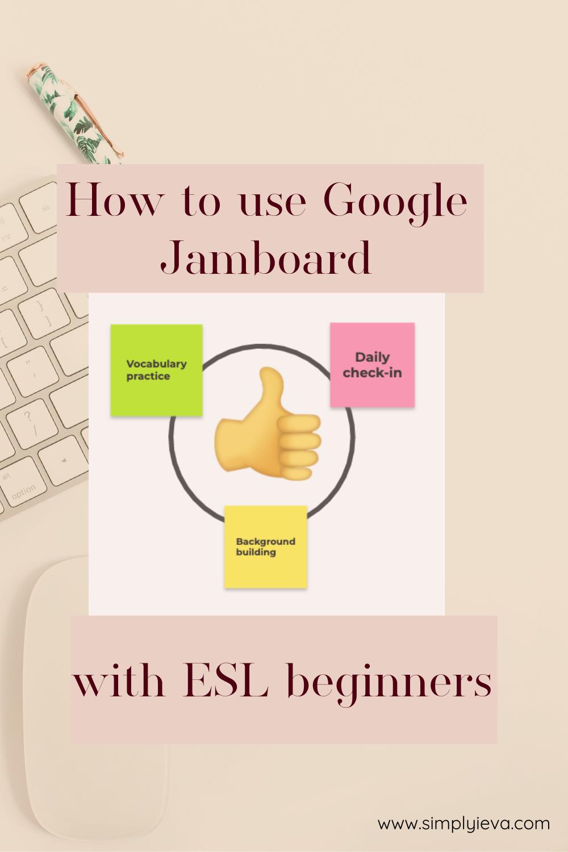 How To Use Google Jamboard With Esl Beginners Esl Teaching Teaching Esl Students Teacher Help