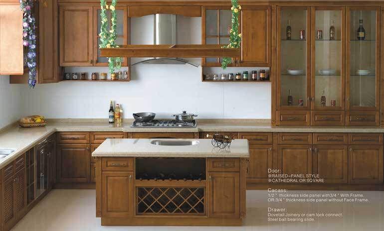 Best Wooden Kitchen Cabinet Maple China Kitchen Furniture 640 x 480