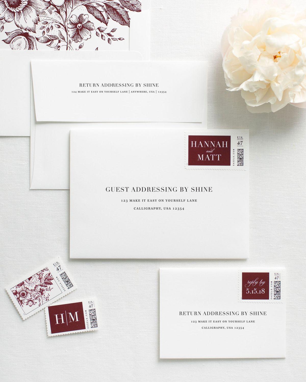 Glam monogram letterpress wedding invitations letterpresses