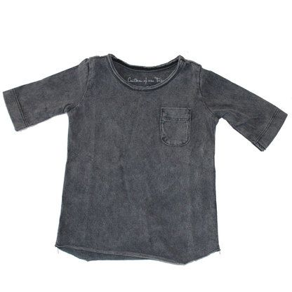 Edgy top - grey wash