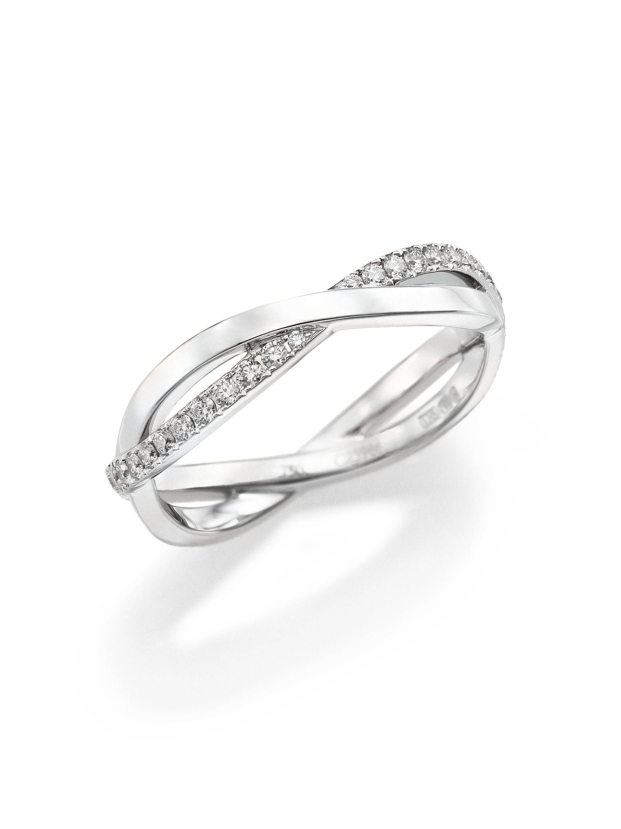 Womenus infinity diamond u k white gold half band ring マリッジ