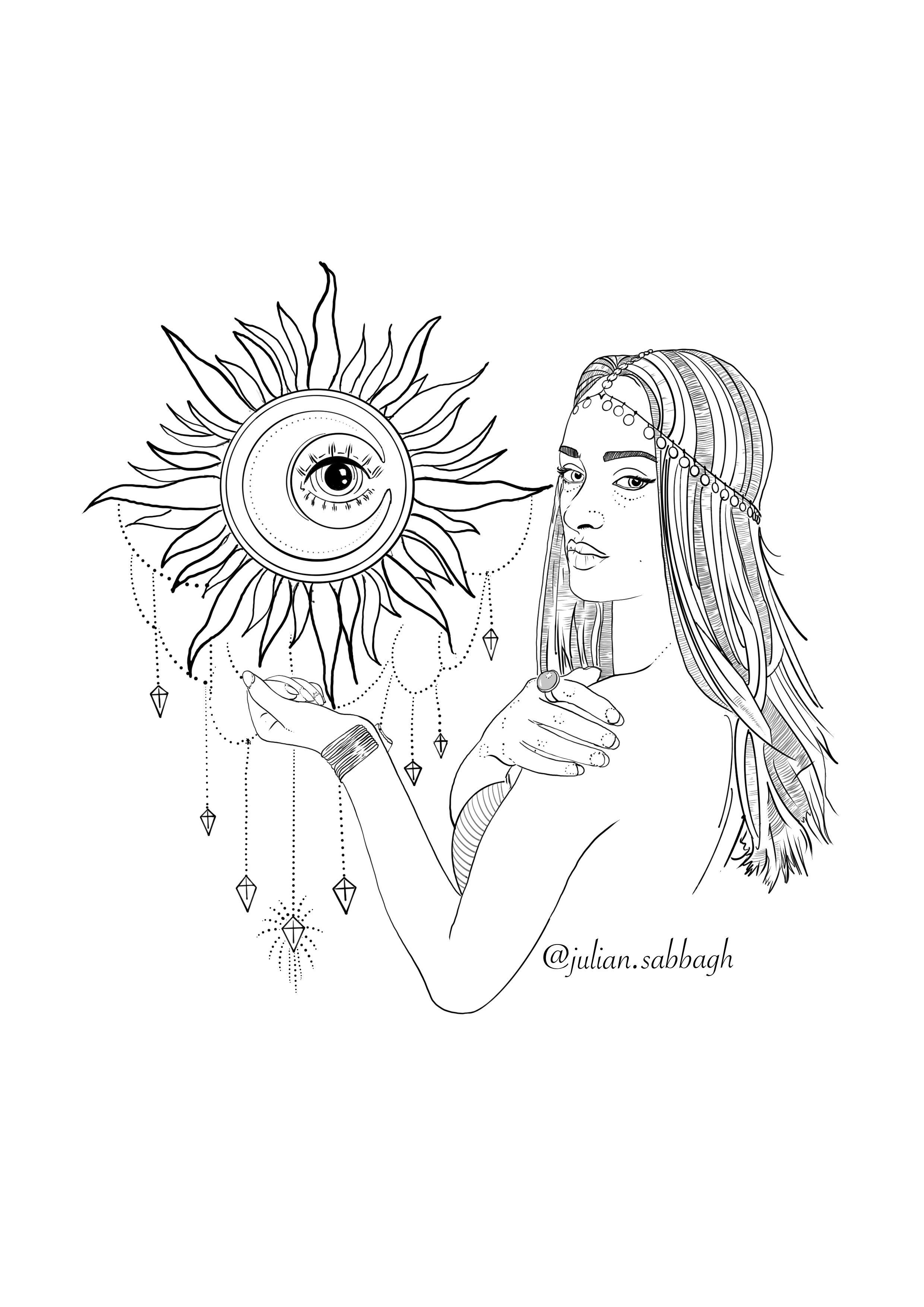 Pin by Julìåñ Śåßāg on Julian'Art Moon sun tattoo, Third