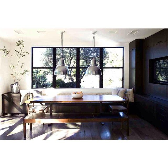 This Lantern Inspired House Design Lights Up A California: Boffi Light Fixtures + Bddw Table And Bench