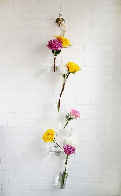 Diy Gl Flower Vase Wall Hanging Decor 1000 Dreamy