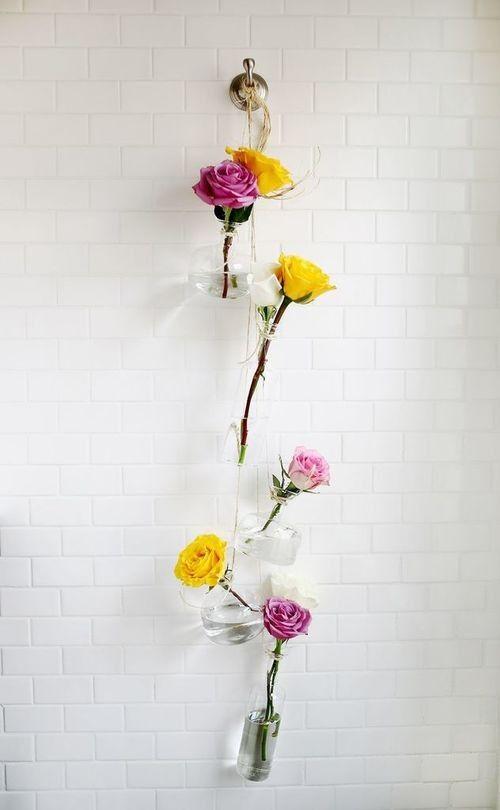 Diy Glass Flower Vase Wall Hanging Decor Hanging Vases Diy Vase Diy Hanging
