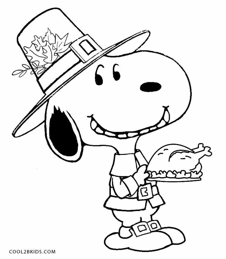 Snoopy Coloring Pages Snoopy Coloring Pages Thanksgiving