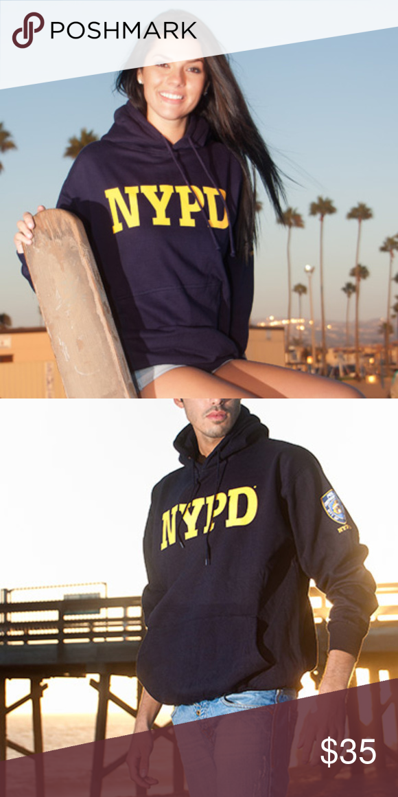 dfb18fea NYPD Embossed Hooded Sweatshirt unisex hoodie This is an officially ...