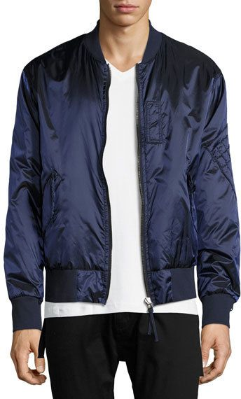 4343d894a Reversible Satin Bomber Jacket Blue/Gray | Products