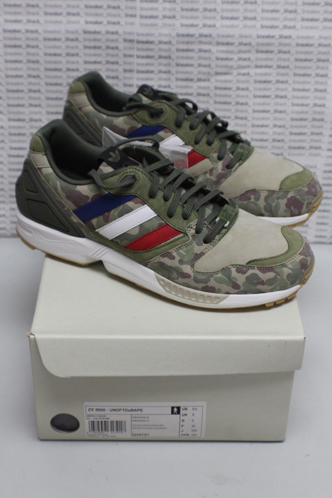 6af7830d34b59 NEW DS  Adidas Undefeated BAPE A  BathingApe ZX 5000 Camo Q34751 - Size 8.5
