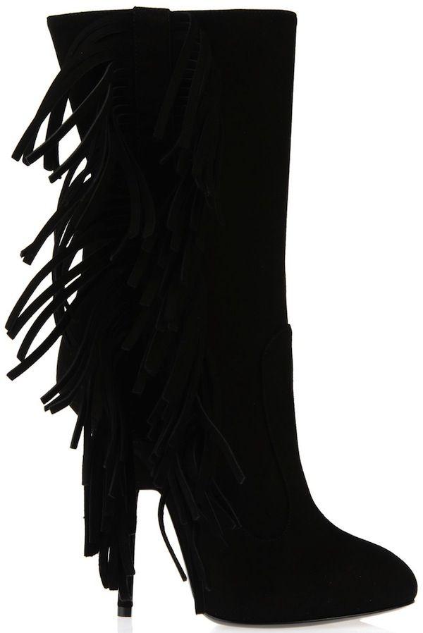 Giuseppe Zanotti Fall Winter 2013-2014 Collection Fringe Ankle Boots 7c99e3831b