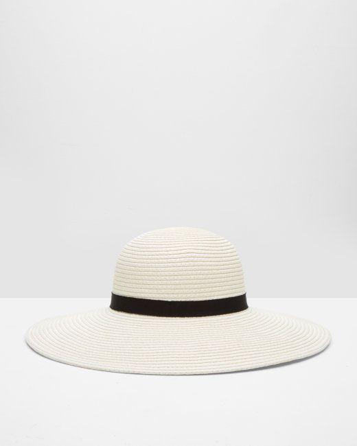 0ec5c8b18 Micro bow straw hat - Cream   Hats   Ted Baker UK   Italy fashion ...