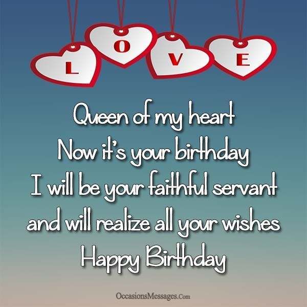 Happy Birthday To The Queen Of My Heart Special Birthday Wishes Birthday Wishes For Girlfriend Happy Birthday Girlfriend