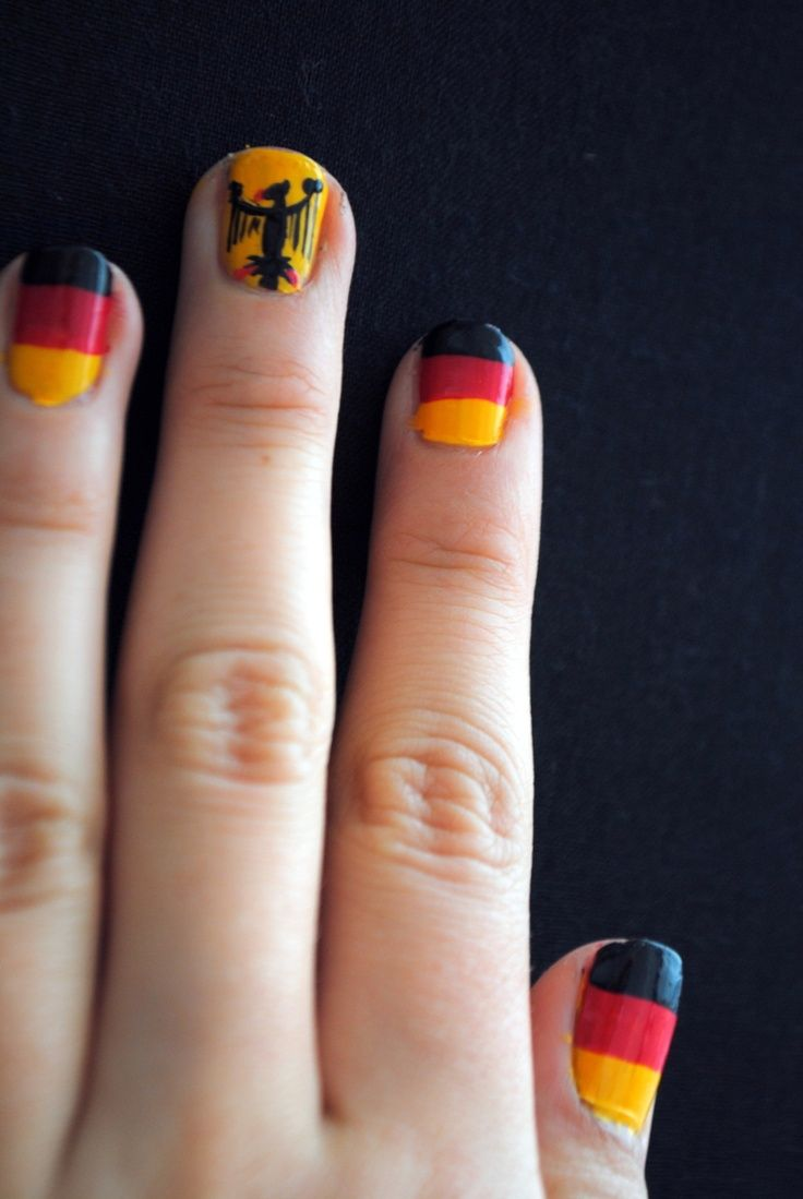 Germany National Flag Nail Art - pictures, photos, images | National ...