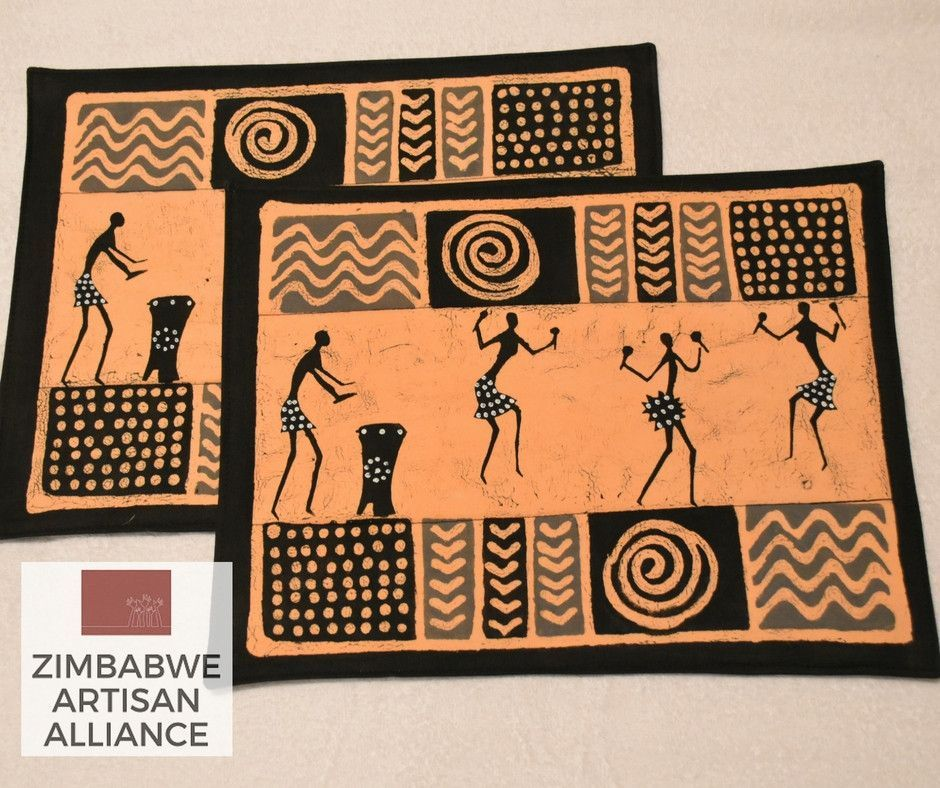 """Set of 2 """"Dancers and Musicians"""" Placemats"""