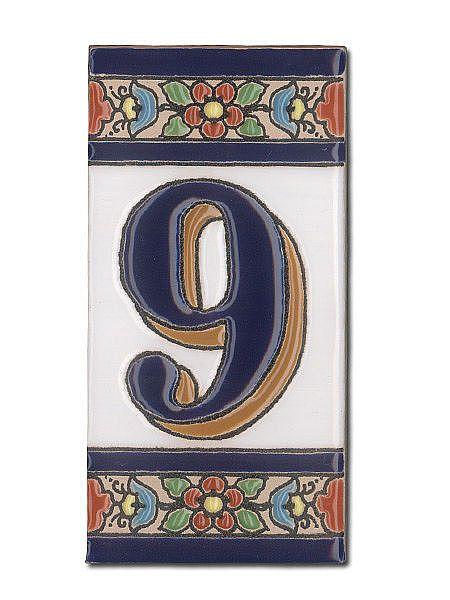 Spanische Hausnummer Aus KeramikFliesen Ziffer - Spanische fliesen kaufen
