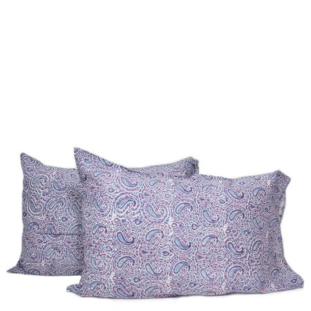 Pillow Case Pair- Blue Paisley - Furbish Studio