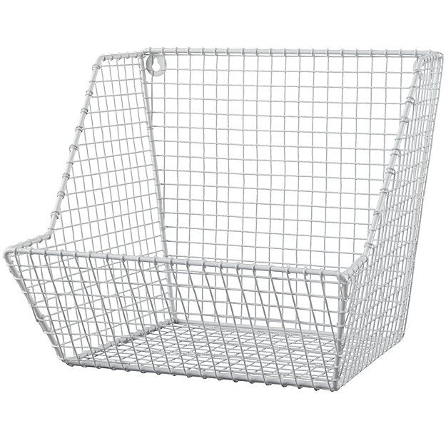 Down To The Wire Wall Bin White The Land Of Nod Kids Storage