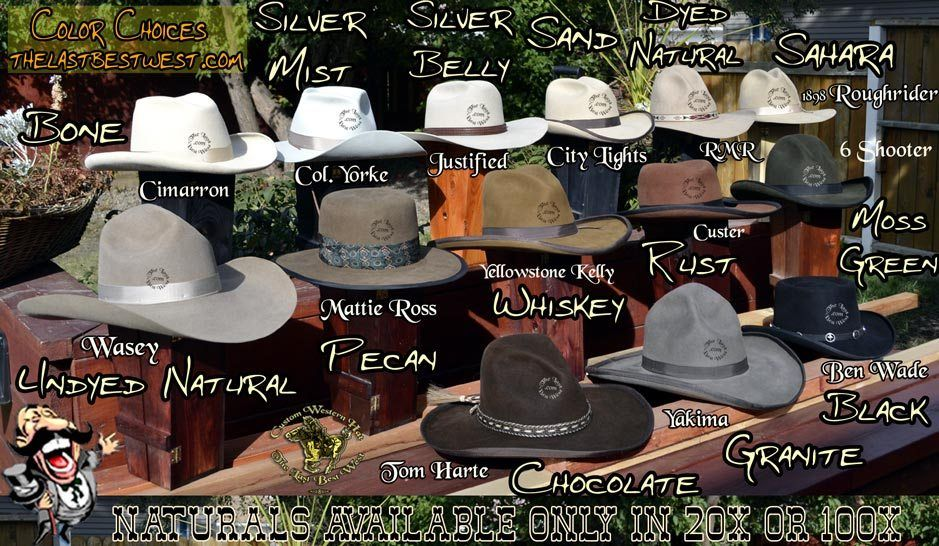 fac965b252bf6 Cowboy Hat colors