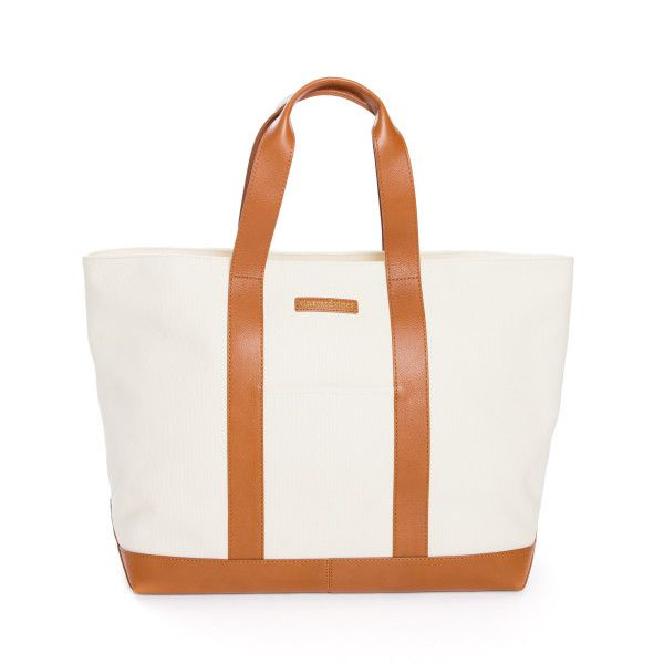 Canvas and leather XL tote: http://www.stylemepretty.com/living/2016/08/12/youll-totes-love-these-essential-fall-bags/
