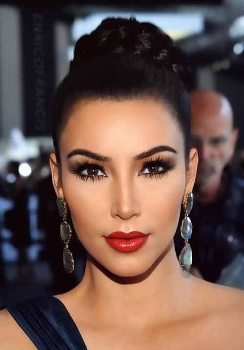 Kim Kardashian Cabello Y Belleza Peinado Y Maquillaje Cabello Y Maquillaje