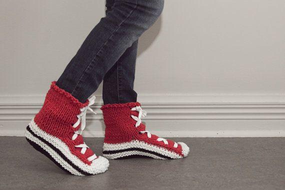 Pantoufles chaussons converse basket adulte par CreationsArtPhoto