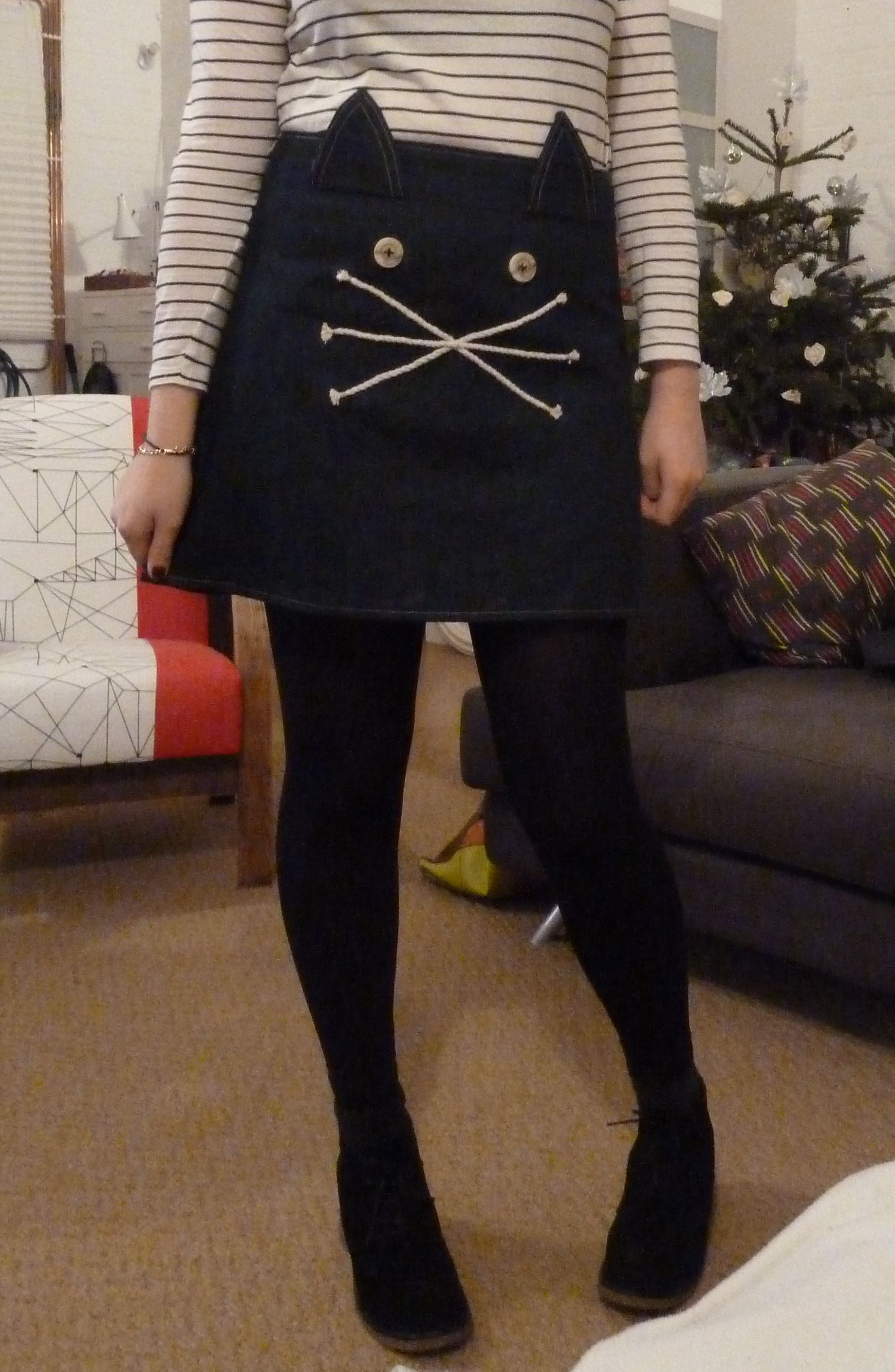 My boyfriend's mum made me this skirt for Christmas. Chuffed.